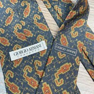 Giorgio Armani Grey/Blue Paisley Tie